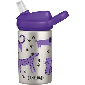 CamelBak eddy+ Kids Single Wall Roestvrijstalen Drinkfles 400ml Kinderen, zilver/violet